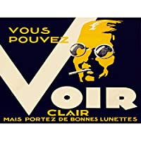 VINTAGE PROPAGANDA VOIR SEE GLASSES LUNETTES NEW FINE ART PRINT POSTER PICTURE 30x40 CMS ビンテージ宣伝ガラスアートプリントポスター画像