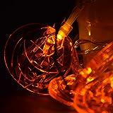 LEEHUR クリスマス飾りライト 20球2.5Mカボチャハロウィン装飾ライト 電池式イルミネーションライ ト 室内室外 結婚式 パーティー庭に適用 (カボチャ)