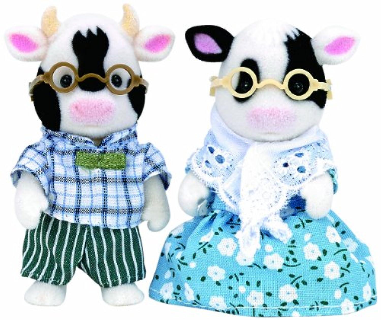 シルバニアファミリー ホルスタイン 牛 おじいさん と おばあさん