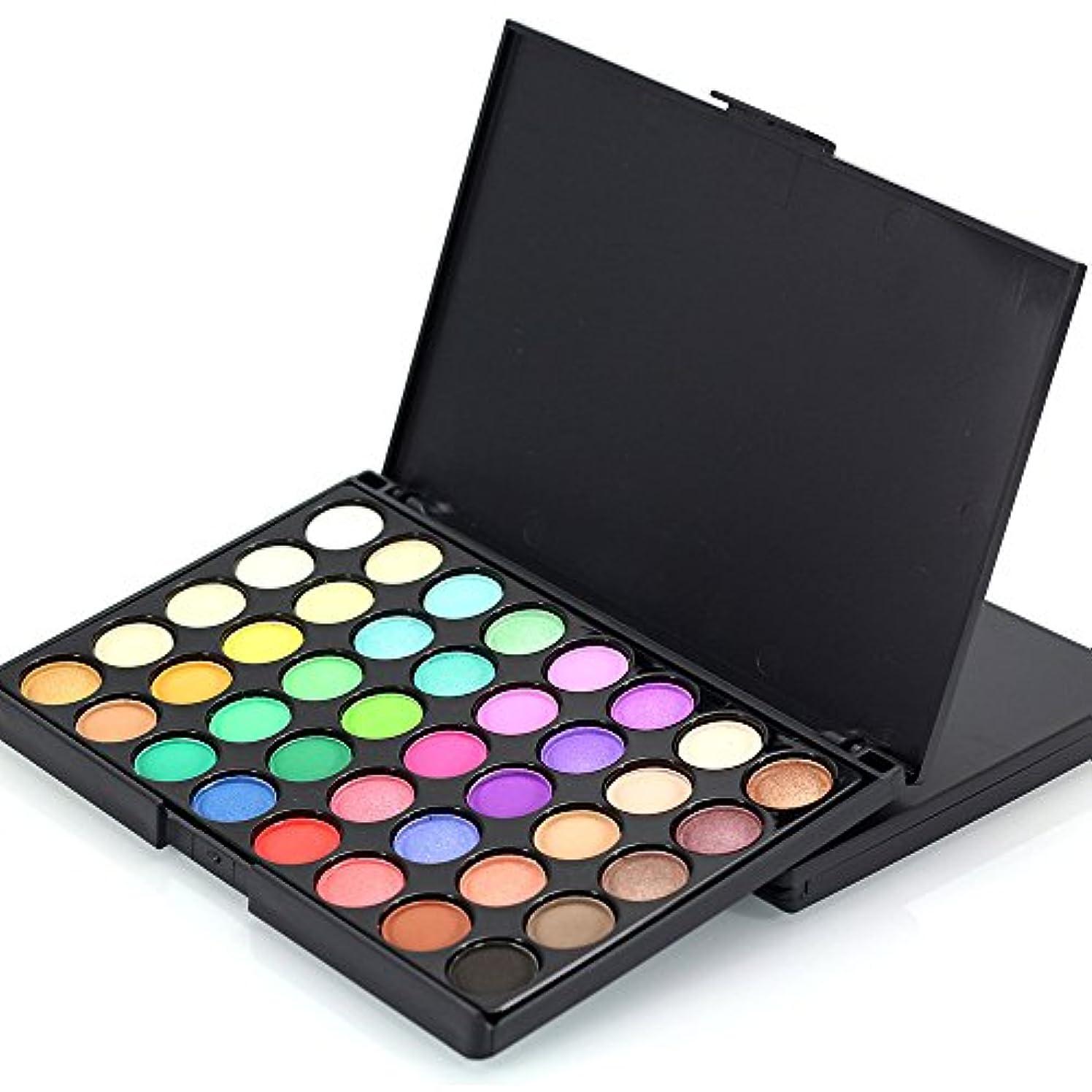 クレデンシャル分析する可塑性40色化粧品パウダーアイシャドーパレットメイクアップセットマットB利用可能