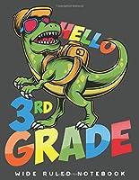 Wide Ruled Notebook: Dinosaur 3rd Grade Wide Ruled Journal