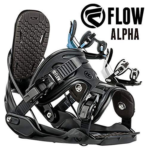 17-18 FLOW/フロー ALPHA メンズ レディース ビンディング バインディング スノーボード 2018 型落ち L(25.5~29.5cm) BLACK