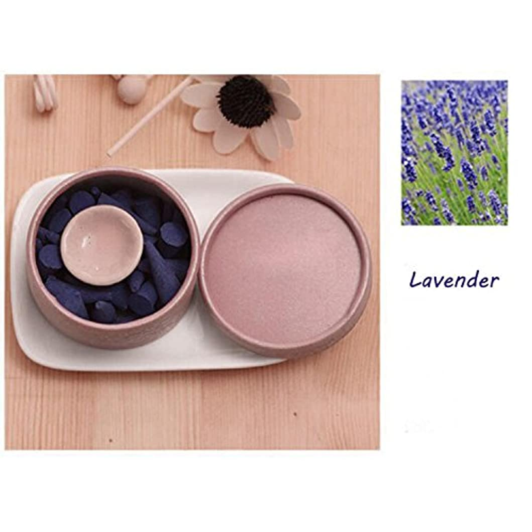 支援つづり説明するThinIce 天然インセンスコーン ラベンダーサンダルウッド ローズの香り タワー香り グリーン