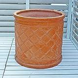 【軽くておシャレな植木鉢】 ウィンドシリンダーポット テラコッタ色 (38cm) 大型鉢 ファイバークレイ アンティークテラコッタ風 園芸 ガーデニング おしゃれ