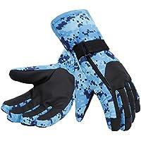 シンプルさメンズ迷彩スキー&スノーボード3 Mシンサレート防水冬手袋