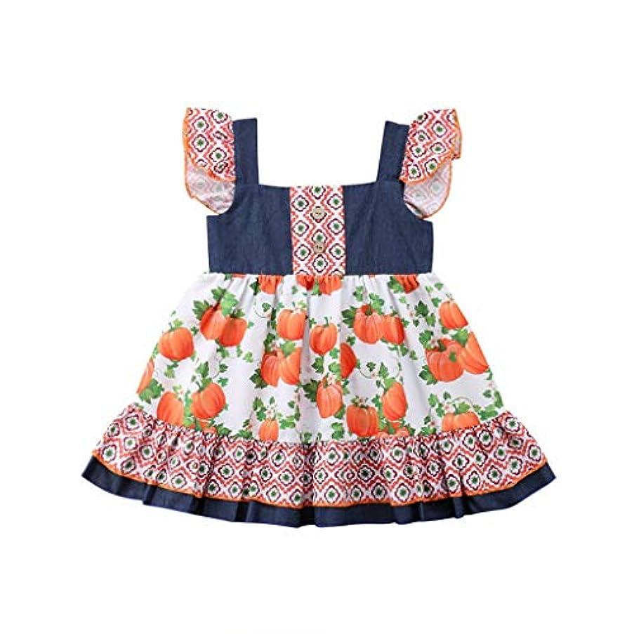 失礼前件フランクワースリーMISFIY ハロウィン 子供 ベビー服 新生児 ドレス ガールズ 女の子 スカート仮装 柔らかい かわいい