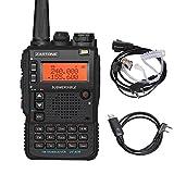 ZASTONE ザストーン UV-8DR アマチュア無線機 5W VHF/UHF帯 トランシーバー 128メモリーチャンネル FM ハンディトランシーバー イヤホンマイク付