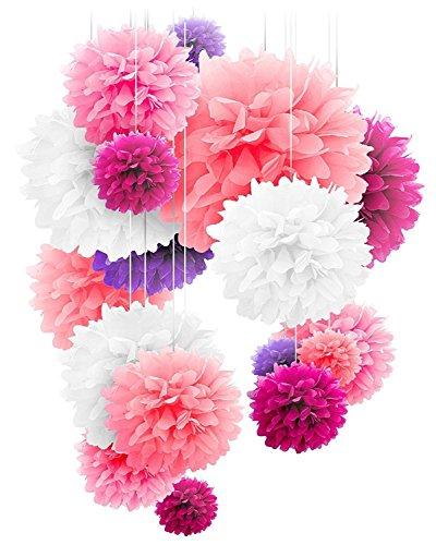 RoomClip商品情報 - 20個セット ペーパーフラワー フラワーポンポン 5色4サイズ パーティー イベント 飾り付け バースデー ウエディング
