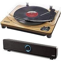 ION Audio Bluetooth対応レコードプレーヤー・ワイヤレススピーカーセット (Air LP 天然木)