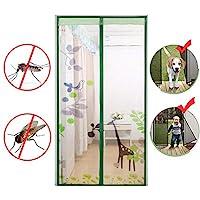 磁気スクリーン ドア, ヘビーデューティ 防蚊ネット メッシュ カーテン 防蚊 自動的に密閉 完全なフレーム フィットのドア-J 110x210cm(43x83inch)