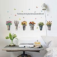 鉢植えの花リビングルームのベッドルームのリムーバブル自己接着家具ウィンドウウォールステッカー防水ステッカーの装飾の壁画