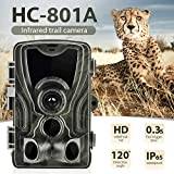 DishyKooker Outdoor Camera Wildlife Trail Camera Photo Infrared Waterproof Wireless Surveillance Tracking Cameras
