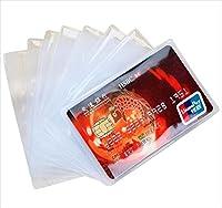 GJTr ビニール カード ケース スリーブ 大容量 まとめ買い 薄型 防磁 保護 横挿入 100枚 セット