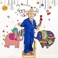 Dtcrzj 象漫画クリエイティブリムーバブルキッズ保育園幼稚園浴室の装飾壁画自己接着DiyウォールステッカーデカールE