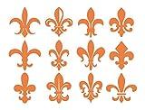 Fleur du Lis ユリの紋章 壁用デカール 40
