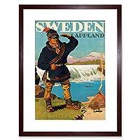 Travel Tourism Lappland Sweden Glacier Lavvu Sami Framed Wall Art Print