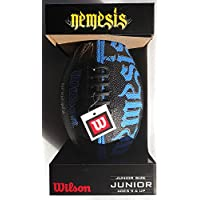 Wilson JUNIOR Size NEMESIS Football DOUBLE RUBBER COVER (BLUE) [並行輸入品]