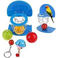 Demiawaking 鳥おもちゃ 噛む玩具 インコ 鳥 オウム ストレス解消 プラスチック製 ミニバスケットボール 知育訓練おもちゃ・シュート (S)