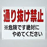 「通り抜け禁止」パネル看板 幅40cm×高さ30cm