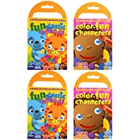 Set of 4 Ollie Bollie Carry-Along Activity Pads With Crayons