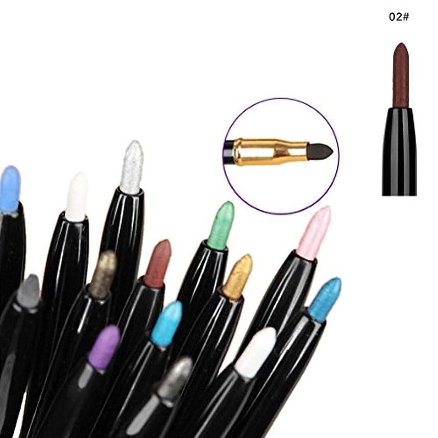 代数つまずく不規則性MakeupAcc両端自動回転アイライナー パールアイシャドウペン ウォータープルーフ涙袋筆 ハイライトアイシャドー (つや消しコーヒー色) [並行輸入品]