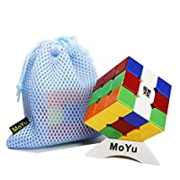 MoYu AoLong V2 Speed Cube 3x3x3 Magic Cube スピードキューブ3×3×3マジックキューブスムーズ高速ツイストスピードパズルキューブ+ 1キューブスタンドと1バッグ (Stickerless)