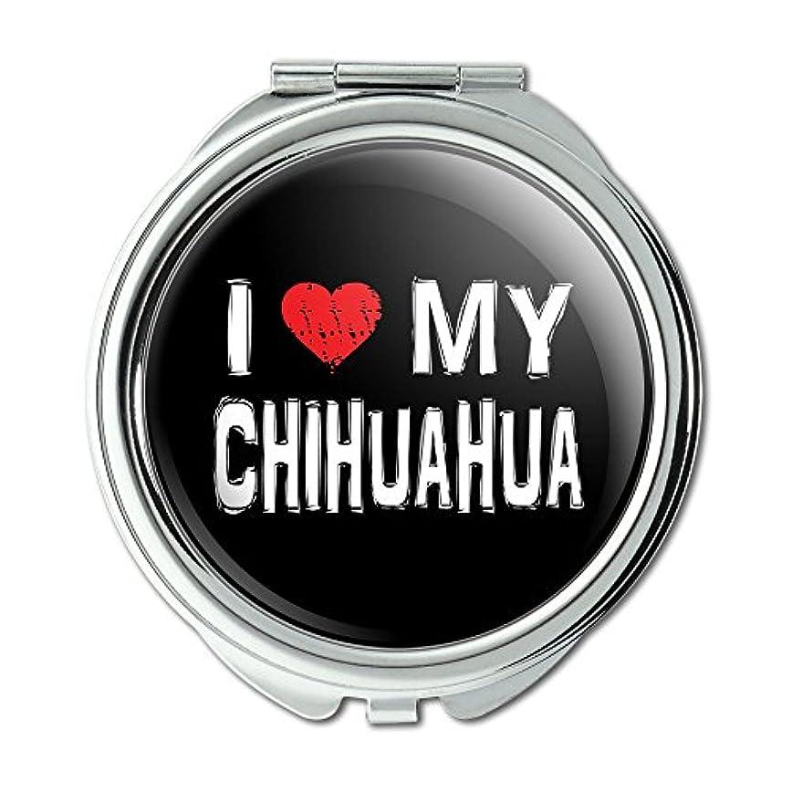 症候群一部標高I Love My Chihuahua Stylish Compact Purse Mirror
