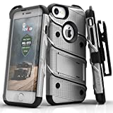 Zizo Bolt Case For iPhone 7 ボルト ケース 耐衝撃 スタンド付き 強化ガラス 極薄 0.33mm 硬度 9H 液晶 保護フィルム 付属 7 / 6 / 6s 対応 【正規代理店品 】 グレー/ブラック