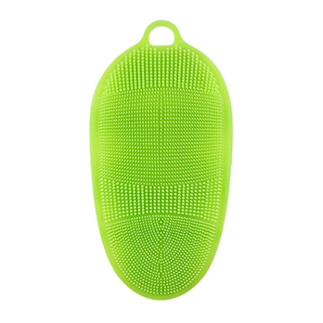 撤回する買い物に行く結論Kapmore シリコンブラシ ウォッシュ ボディブラシ 多機能 マッサージ シャワー 肌にやさしい 垢擦り 体洗い 風呂 フットケア 4色選択可能 衛生 角質取り 毛穴清潔 泡立ち (グリーン)