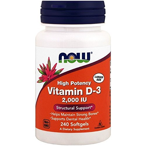 Now Foods ビタミンD-3、2,000 IU、240ソフトゲル [並行輸入品]