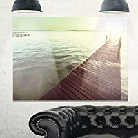 """Design Art 木製 ボードウォークオーバー クリアウォーターズ ラージ シーブリッジ メタルウォールアート 20x12"""" MT10803-20-12"""