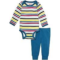 Skip Hop Baby Says Long Sleeve Bodysuit and Pant Set Stripes 3M
