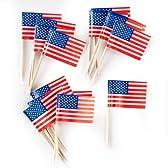 Food Picks - American Flags フードランキング-アメリカの国旗♪ハロウィン♪クリスマス♪