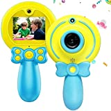 Creative Kids Camera with 2 Inch HD Screen 1080P Video Resolution 720P Photo Resolution, Portable Kids Camera for 3-9 Boys Birthday Gift(No Card) (Color : Blue)