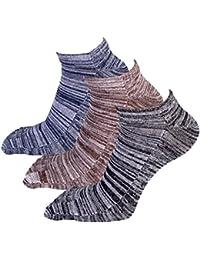 AIEOE 五本指ソックス くるぶし 3足 セット 綿 靴下 5本指 おしゃれ アウトドア スポーツ ショート フリーサイズ