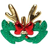 BESTOYARD エルククリスマスコスチュームマスク布マスク子供大人コスプレクリスマスパーティーグリーン