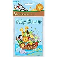 Noah's Ark Baby Shower Invitations, 8ct