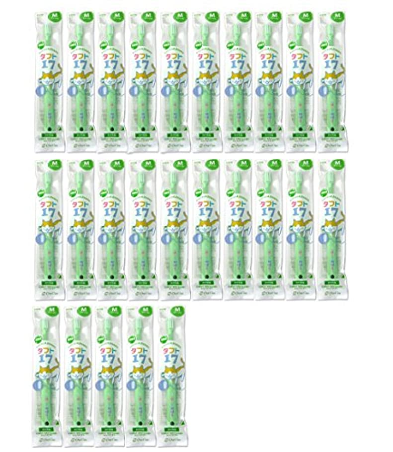 コインランドリーシルエットカウントタフト17 25本 オーラルケア 【タフト17/ミディアム 子供】 乳歯列(1~7歳用)こども歯ブラシ便不 グリーン