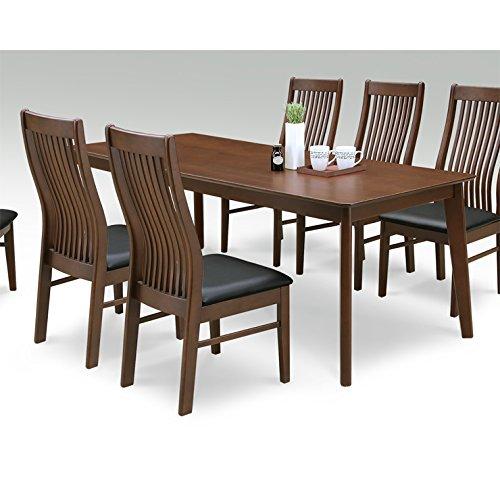 ダイニングテーブルのみ 幅180cm ブラウン 木製 モダン風 6人用 六人用