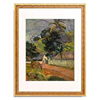 ポール・ゴーギャン Eugene Henri Paul Gauguin 「Le cheval sur le chemin」 額装アート作品