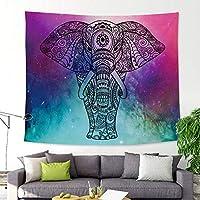 """象のタペストリー壁掛け、曼荼羅タペストリー、自由奔放なサイケデリックな壁掛け、ヒッピー自由奔放に生きるトリッピータペストリー、アートカーペットブランケットヨガマットビーチタオル、芸術の壁の装飾、200cmx150cm / 78.7""""x59.1"""" (Color : Pattern 6)"""