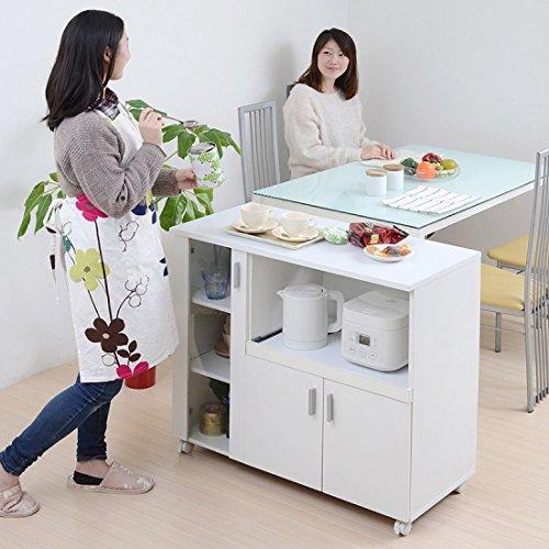 シンプル キッチンカウンター 食器棚 幅90