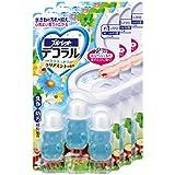 【まとめ買い】ブルーレットデコラル トイレ便器の内側 香りと汚れ着付防止の花びらジェル クリアミントの香り 約30日分×3個