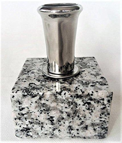 [해외]향로 무덤 용 스테인리스 나사 식 화강암의 대좌 (고정 된) 손질 간단 넣으면 무덤이 업그레이드 바람이 불어도 무너지지 않습니다 S01/Incense incense stand Grinding stainless steel screw-type granite with pedestal (fixed) Maintenance Easy...