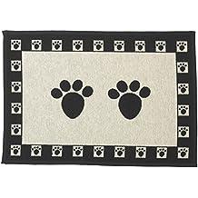 "PetRageous Paws - Tapestry Placemat, Black/Tan, 13"" x 19"""
