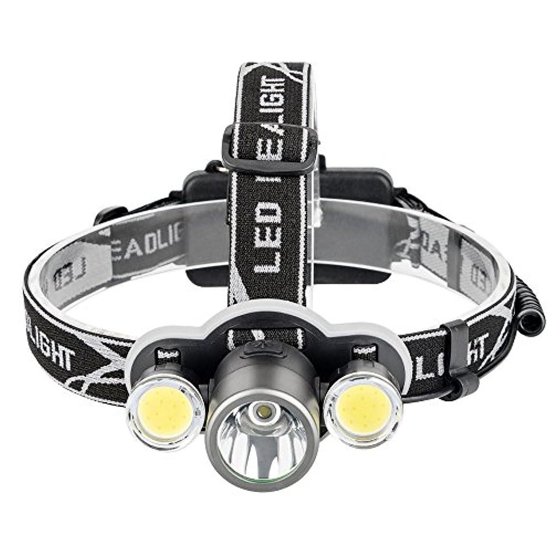 衝突コース虐待リア王発信スタイルの楽しみッドライトXM - L充電式T6 LED 5モードヘッドランプ