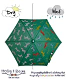 色が変わる魔法の傘 Umbrella 子供用 ジュニアサイズ Holly&Beau ホリーアンドボー Zebra 50cmサイズ 軽量220g