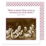 Shannon Martin Design 20-Count 3-Ply Paper Beverage Napkins, Wine is Proof