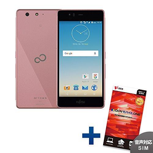 FUJITSU ARROWS M03 【OCNモバイルONE 音声通話対応SIM付】 (ピンク)