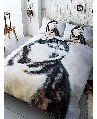シベリアンハスキー ハスキー犬  シングル 布団カバー+枕カバー 9691 [並行輸入品]